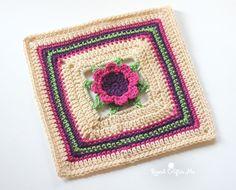 3D Crochet Flower Granny Square