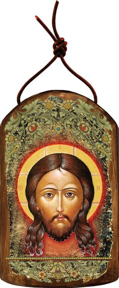 Icon of the Holy Face, Wooden Handcrafted Inspirational Ornament of Jises, Sacred Art, Religious gift (87018) by iconartbyhand. Explore more products on http://iconartbyhand.etsy.com