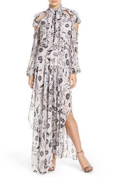 Bardot 'Ashley' Cutout Print Maxi Dress