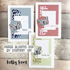 Paper Blooms DSP – kelly kent Bird Cards, Butterfly Cards, One Sheet Wonder, Cute Fonts, And Just Like That, School Holidays, Card Sketches, Texture Painting, Paper Design