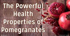 Pomegranates contain important minerals and antioxidants to help prevent inflammation, hypertension, cancer and other diseases. http://articles.mercola.com/sites/articles/archive/2016/07/25/pomegranate-properties.aspx