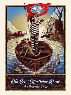 Old Crow Medicine Show by Zeb Love Poster
