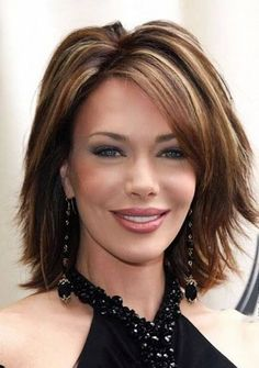 I like this, but I would like it better with a shorter bang. The shag hairstyle with highlights.