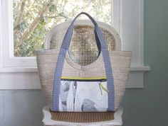 Two more Poolside Totes in Carkai and Euclid fabrics. (carolyn friedlander)