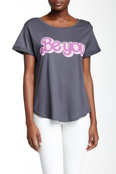 Be You Rolled Sleeve Tee