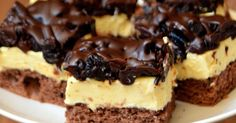 Polish Desserts, Polish Recipes, No Bake Desserts, Baking Recipes, Cake Recipes, Dessert Recipes, Chocolate Ganache Tart, Kolaci I Torte, Cake Bars