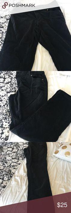 Lane Bryant corduroy black stretchy pants Barely used, corduroy pants, it has stretch. Lane Bryant Pants Straight Leg