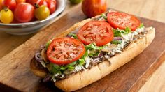 Sous-marin au steak et fromage style Subway Steak And Cheese Sub, Panini Sandwiches, Wrap Sandwiches, Sandwich Recipes, Beef Recipes, Cooking Recipes, Healthy Recipes, Steak Wraps, Pizza