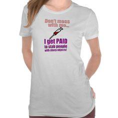 Womens Funny Nurse Shirt