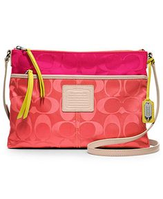 COACH LEGACY WEEKEND SIGNATURE COLORBLOCK NYLON HIPPIE - COACH - Handbags & Accessories - Macy's