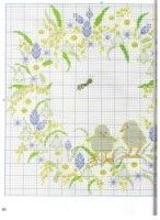 """Gallery.ru / irisha-ira - Альбом """"к пасхе"""" Easter Tablecloth, Easter Cross, Easter Wreaths, Cross Stitch Patterns, Bullet Journal, Embroidery, Holiday, Projects, Handmade"""