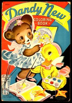 ''Dandy New Coloring Book'' Merrill 1941, ill. S. Wendell Campbell | eBay