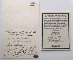 SIEGFRIED & ROY DUAL SIGNED CHRISTMAS CARD RARE COA GREG TUCKER AUTOGRAPH