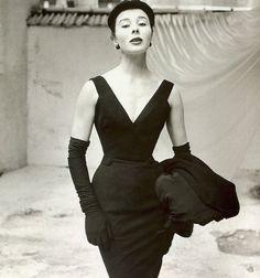 Bettina Graziani in Dior, 1950s.