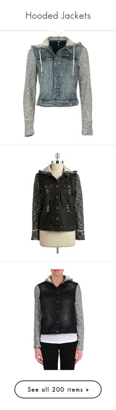 """""""Hooded Jackets"""" by demiwitch-of-mischief ❤ liked on Polyvore featuring outerwear, jackets, tops, coats, blue jackets, hooded denim jacket, denim jacket, blue denim jacket, free people jacket and black riot"""