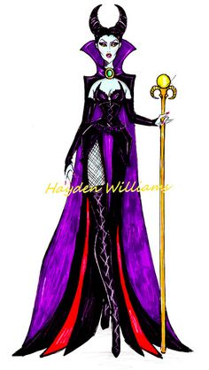 The Disney Diva Villainess collection by Hayden Williams: Maleficent by Fashion_Luva, via Flickr