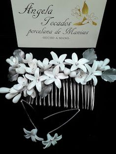Tocados de novia. Joyería Cerámica. Flores de porcelana.: TOCADOS DE PORCELANA…