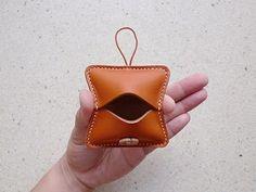 蜂蜜棕色皮革方塊錢包