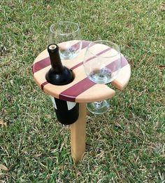 Wine picnic stand
