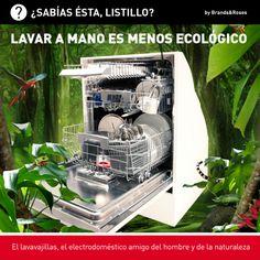 El lavavajillas es más #ecológico que lavar a mano.