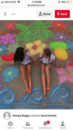 Sidewalk Chalk Photo Ideas for Family Bring the feeling of the beach to you Bff Pics, Bff Pictures, Summer Pictures, Artsy Bilder, Tumblr Bff, Sidewalk Chalk Art, Sidewalk Chalk Pictures, Photos Originales, Artsy Photos