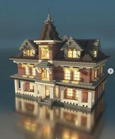 Minecraft Small Castle, Minecraft Build House, Minecraft Castle Blueprints, Minecraft Mansion, Minecraft Cottage, Minecraft Medieval, Cute Minecraft Houses, Minecraft City, Minecraft Plans