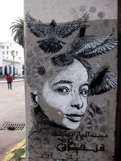 een mooi street art tekening