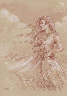 she didn't understand why her brother always drew her  the day after Aragorn was crowned king over Gondor she found another picture of her this time in a dress with her mother's sword and shield for some reason angry she stormed up. why?!? she asked slamming the picture down in front of him aragorn shocked at her sudden out burst he looked down and and sighed. because only when your not looking can I get your true side Edlenn. he said before folding it up and walking away with out another…