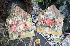"""""""LadyBug"""" Для вашего творческого пути!: Цветочные конвертики от Алены Куликовой Floral Letters, Flower Cards, Handmade Cards, Envelope, Decorative Boxes, Scrapbook, Spring, Blog, Vintage Ornaments"""