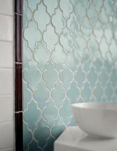 love the aqua tile...the color, the shape...love it!