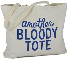 Another F_cking Tote Another Bloody Tote Natural Blue