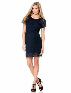 TAYLOR Short Sleeve Lace Maternity Dress