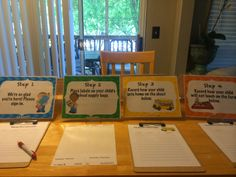 One Sweet World in First- Step-By-Step Back -to-school night signs to help guide parents. Check out my new blog and follow me!