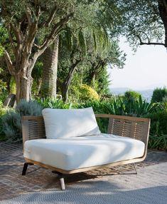 Right Module Welcome in teak e corda cm 130 Unopiù Coffee Table Pouf, Outdoor Coffee Tables, Outdoor Spaces, Outdoor Chairs, Outdoor Living, Outdoor Furniture, Outdoor Decor, Teak, Sofas