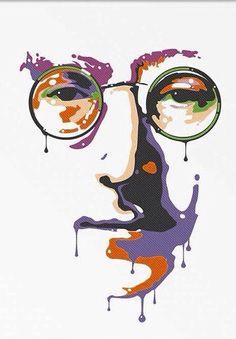 Poster John Lennon Imagine Peace, The Beatles, Yoko Ono, Graphic Home Decor…