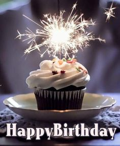 Image Result For Free Birthday Cupcake With Sparklers Photo Cake Happy Funny