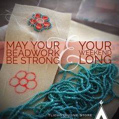 May your beadwork be strong & your weekend long. Beadwork, Beading, Bead Sewing, Crochet Necklace, Medicine, Strong, Patterns, Memes, Quotes