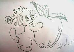 desenho da semaninha do cachorrinho com frutas - quinta- feira
