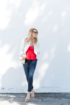 red peplum top, fashion blog, proenza schouler ps11 mini classic sorbet, steve madden wrap up heels@acoest1984