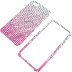#Rhinestones Protector Case for Apple #iPhone 5, Waterfall Pink Full Diamond $14.99 From #DayDeal