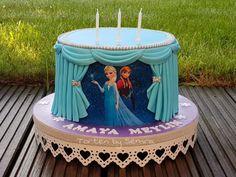 Elsa & Anna by TortenbySemra Bolo Frozen, Disney Frozen Cake, Frozen Birthday Cake, Baby Birthday Cakes, Disney Cakes, Frozen Party, Elsa Frozen, Cake Designs For Kids, Little Girl Cakes