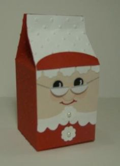 Mrs. Claus Milk Carton