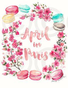 April in Paris: Print by JaniceArtShip on Etsy