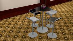 mesa para invitados para Chica Htv 2014  #C4D #3D #Design #diseño