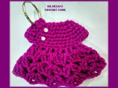 Dr. Desai's Crochet Zone...: Little Dress Keychain