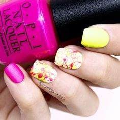 'Hotter than you pink', 'Life gave me lemons' and matte top coat from OPI.