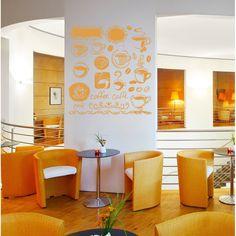 Collage cafe restaurant bar Wall Art Sticker Decal