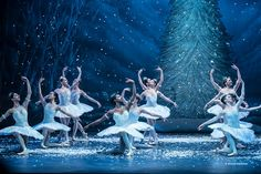 Snowflakes in Wayne Eagling's Nutcracker for English National Ballet - Photo by Emma Kauldhar