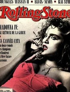Madge again, French Rolling Stone, 1989 (although this gorgeous photo looks circa Lady Madonna, Madonna 80s, Vintage Glamour, Verona, Rolling Stone Magazine Cover, The Neverending Story, Celebrity Magazines, Queen Of Everything, Entertainment