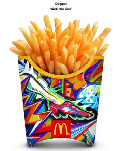 Artwork Title: 'Kick the One' Artist: Doppel Country: #Japan #mcdonalds #WorldCup #fries